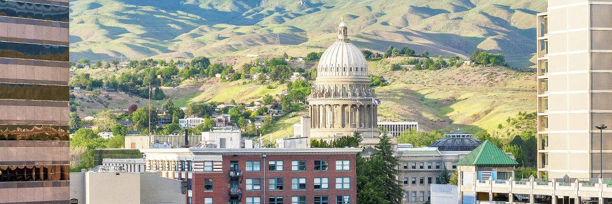 Boise, ID skyline with rolling hills (1200x400)