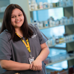 Pharmacy Technology Student From Carrington College in a Pharmacy