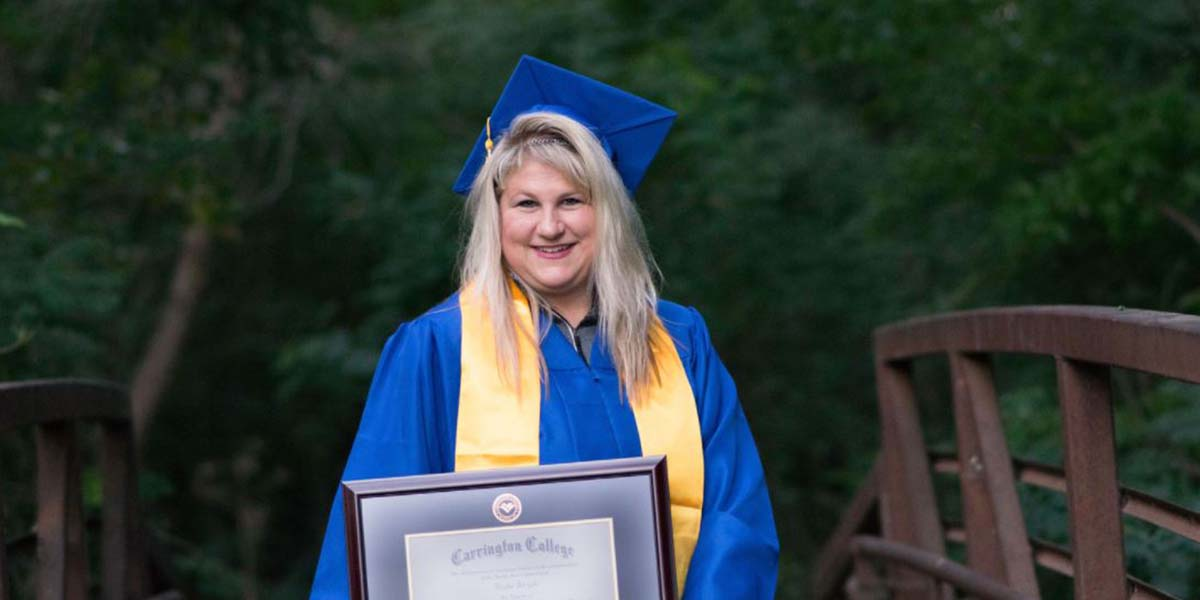 Carrington Graduate Conquers Self-Doubt and Fear to Become Physical Therapist Assistant Program Valedictorian